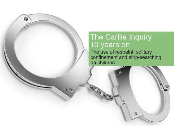 Carlile Inquiry 10 years on cover - image of handcuffs