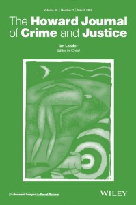 The Howard Journal of Crime and Justice front cover