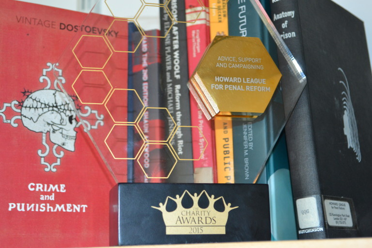 The Charity Award presented to the Howard League for Penal Reform for its Books For Prisoners campaign