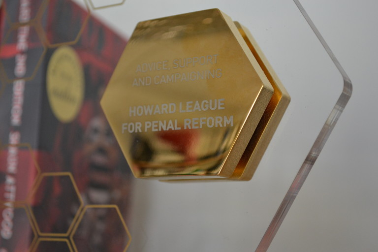 The Charity Award for 'Advice, Support and Campaigning', presented to the Howard League for its Books For Prisoners campaign.