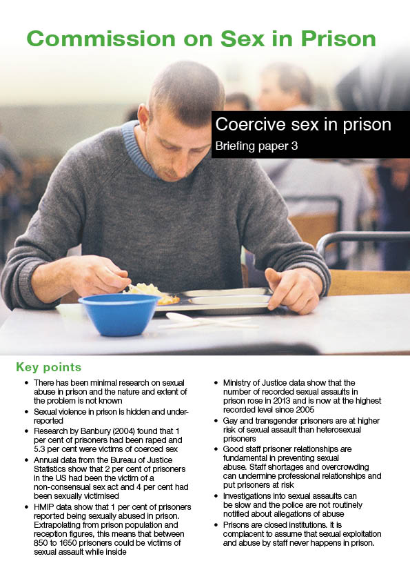 Coercive sex in prison report cover