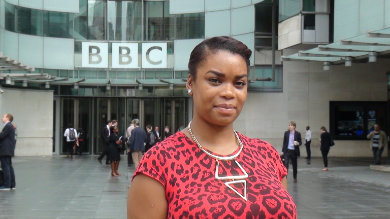 Danielle delivers the BBC Radio 4 Charity Appeal