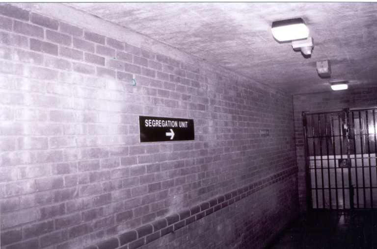 A prison segregation unit