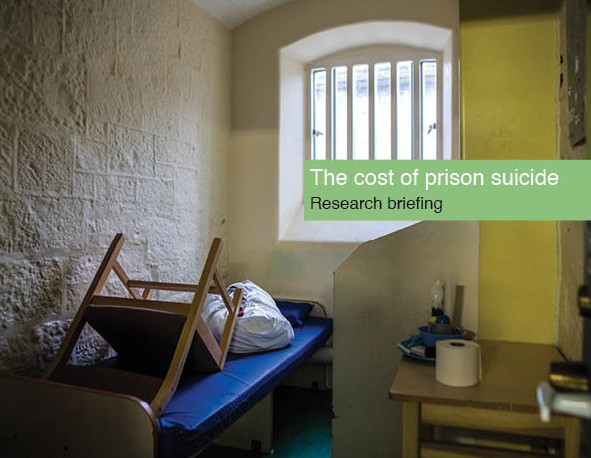 Cost of prison suicide report cover - image of an inside of a prison cell