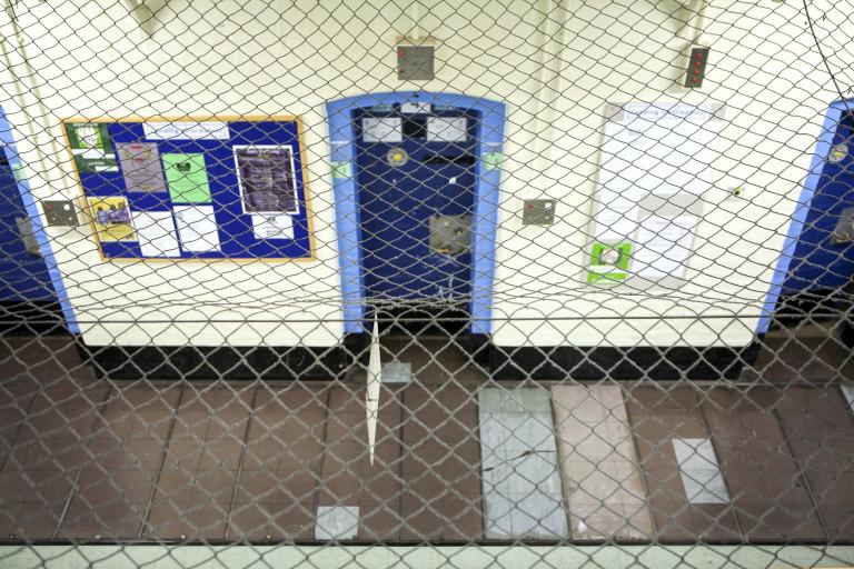 Netting in Wandsworth prison