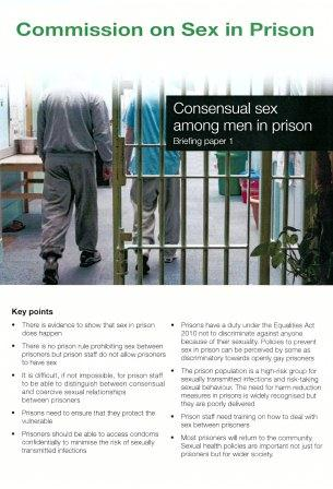 Consensual sex among men in prison report cover