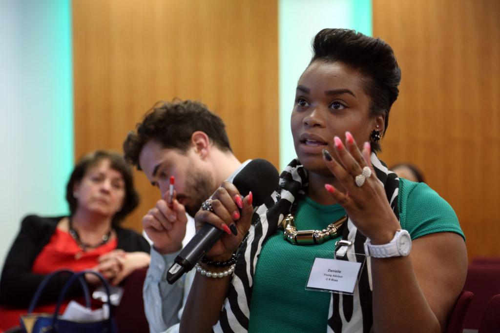 Danielle, U R Boss Young Advisor, speaks