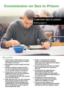 Coercive sex in prison cover