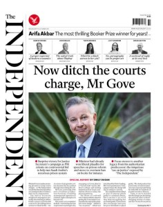 Criminal courts charge Independent splash 14 October 2015