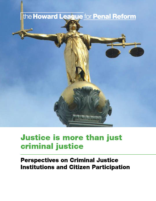 Justice is more than just criminal justice report cover