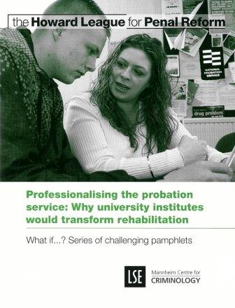 Professionalising the probation service report cover