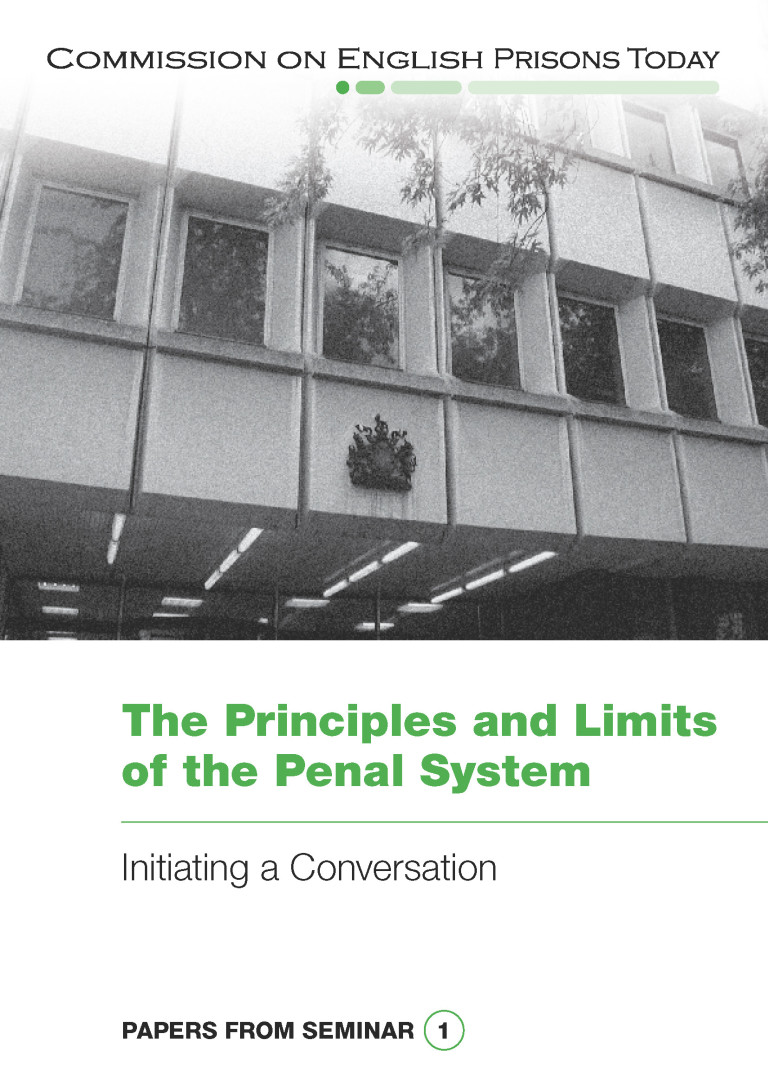 The Principles and Limits of the Penal System report cover