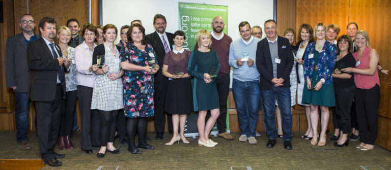 All the runners up and winners of the The Howard League for Penal reform's Community Awards 2015