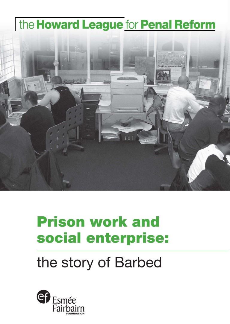 Prison work and social enterprise: the story of Barbed report cover