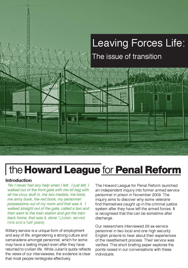 Leaving Forces Life report cover