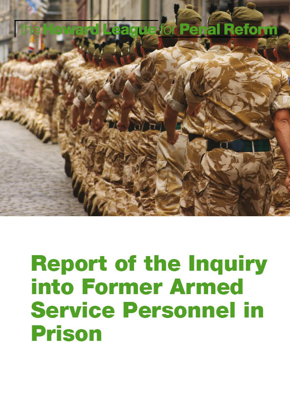 Report of the Inquiry into Fromer Armed Service Personnel in Prison report cover