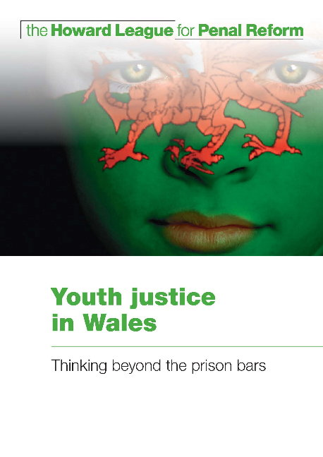 Youth justice in Wales report cover