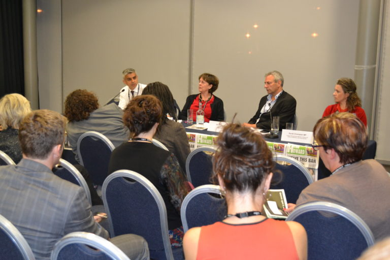 Spearkers panel at the Howard League fringe meeting at the Labour party conference
