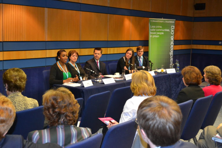 Panel and audience at the Howard League fringe meeting at the Conservative party conference