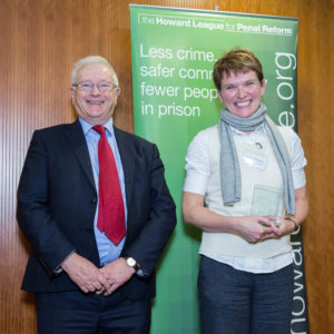 Lord Willy Bach and a representative of Inspector Gail Spruce Greater Manchester Police (GMP) (photo by PrisonImage.org)
