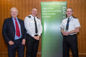 Lord Willy Bach with representatives of Humberside Police Night Challenge Humberside Police (photo by PrisonImage.org)
