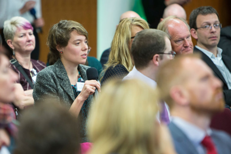 Audience at the Q&A session at the Howard League Community Awards and conference 2016
