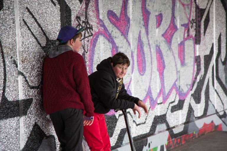 Boys on South Bank, London