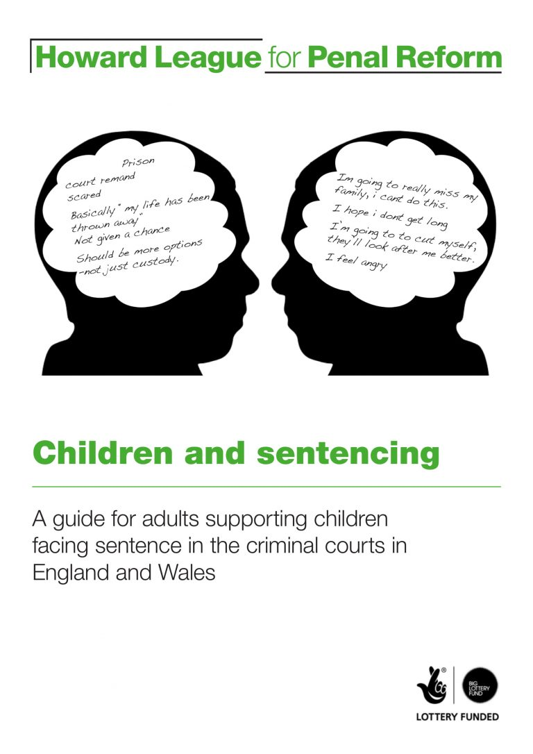 Children and sentencing report cover